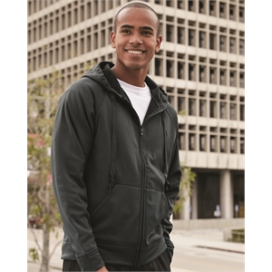 Dri-Power® Sport Hooded Full-Zip Sweatshirt