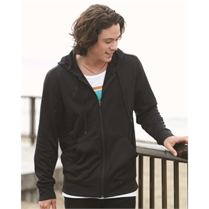 Poly Hooded Full-Zip Sweatshirt