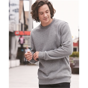 Cotton Blend Crewneck Sweatshirt