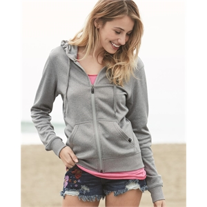 Poly Women's Hooded Full-Zip Sweatshirt