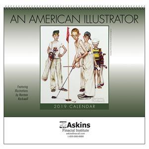 2019 An American Illustrator Wall Calendar - Spiral