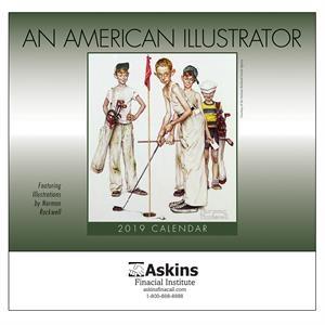 2019 An American Illustrator Wall Calendar - Stapled