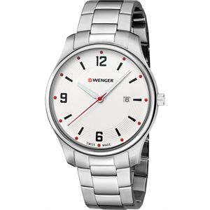 White dial and stainless steel bracelet Watch