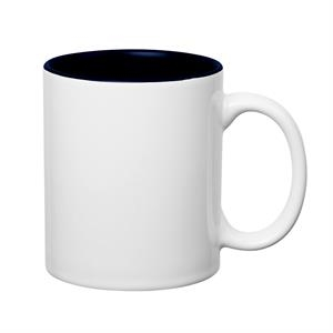 11 oz. Colored Stoneware Mug With C-Handle