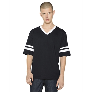 American Apparel® Unisex Poly-Cotton V-Neck Football T...