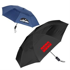 Vented Auto Open Folding Umbrella - 44