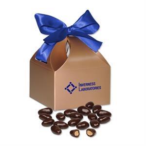 Dark Chocolate Covered Almonds in Copper Gift Box