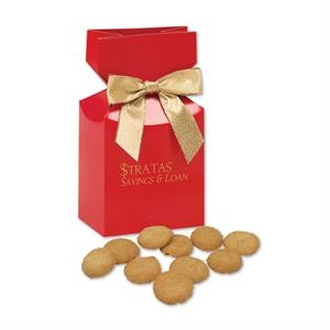 Bite-Sized Snickerdoodle Crisp Cookies in Red Gift Box