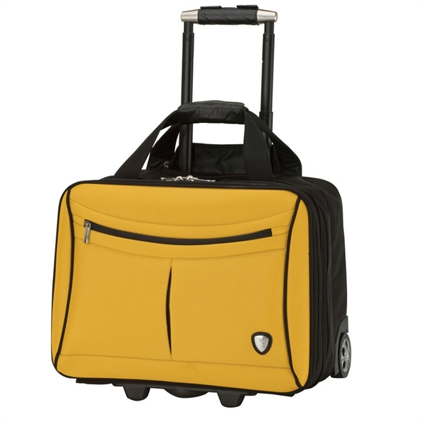 Yellow and Black Lamborghini Trolley Case