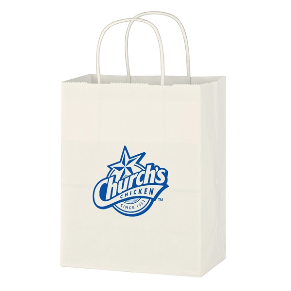 Kraft Paper White Shopping Bag - 8