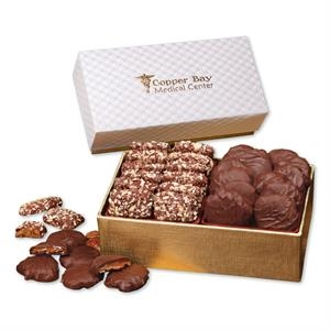 English Butter Toffee & Pecan Turtles in Pillow Top Gift Box