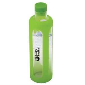 600 ML. (20 OZ.) GLASS WATER BOTTLE WITH SILICONE SLEEVE