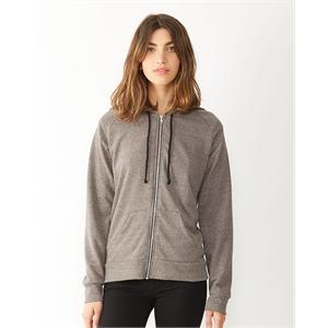 Women's Eco-Mock Twist Adrian Hooded Full-Zip Sweatshirt