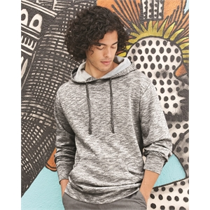 Injected Yarn Dyed Fleece Hooded Pullover Sweatshirt