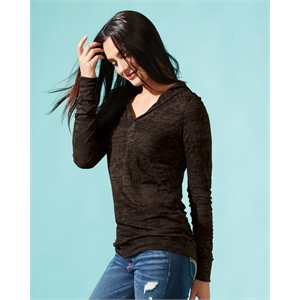 Next Level Women's Burnout Hooded Pullover