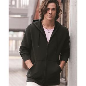 Cotton Blend Hooded Full-Zip Sweatshirt