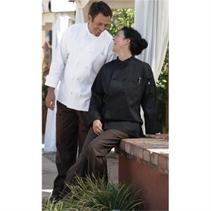 Crossover Collar Chef Coat - White