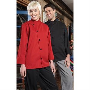 Smooth Front Chef Coat - White
