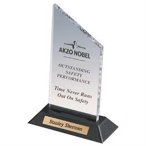 Clear Acrylic Award with Plate