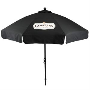 In Stock 9 Foot Market Umbrella with Crank & Fiberglass Ribs