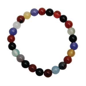 Multi Color Flower Agate Bracelet