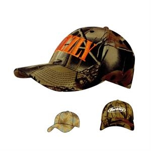 Hunting Leaf Print Camouflage Brushed Cotton Cap