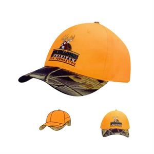 Luminescent Cap w/ Leaf Camouflage Visor (Embroidered)