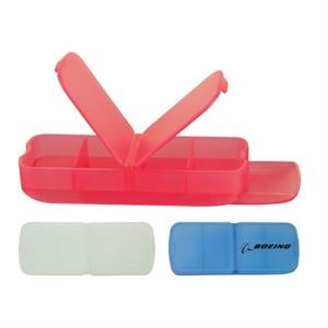 Pill box with bandage dispenser