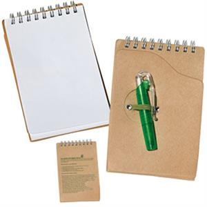 Small Recycled Notepad W/Pen