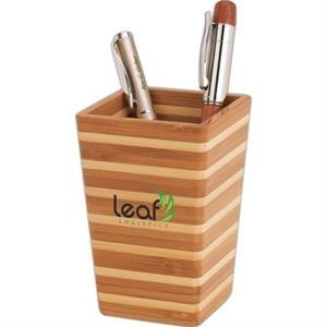 Zen Bamboo Pen Holder