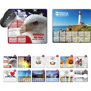 Stock Art Background Hard Surface Calendar Mouse Pads -