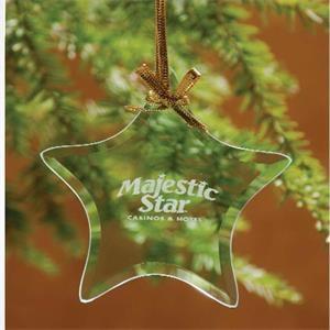Star Jade Glass Ornament