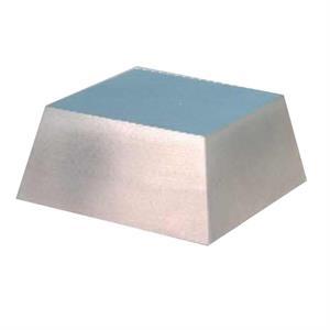Large Silver Metal Slanted Base