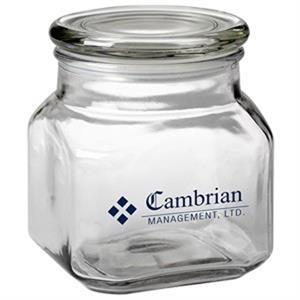32 oz Contemporary Glass Jar / Empty