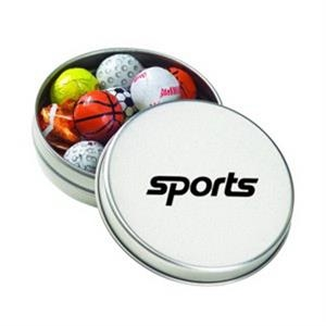 Medium Round Tin / Chocolate Sport Balls