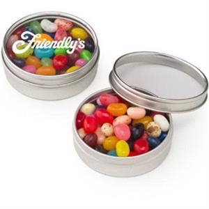 Small Clear Window Tin with Gourmet Jelly Beans