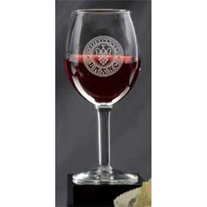 Deep Etched Wine Glass