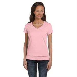 Ladies' Jersey Short-Sleeve V-Neck T-Shirt