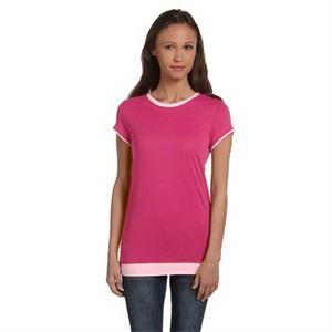 Ladies' Sheer Jersey Short-Sleeve 2-in-1 T-Shirt