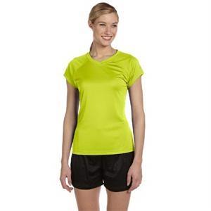 Ladies' 4.1 oz. Double Dry(R) V-Neck T-Shirt
