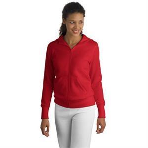 Sport-Tek Ladies Full-Zip Hooded Fleece Jacket.