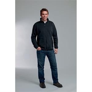 Mens Heathered Fleece Jacket